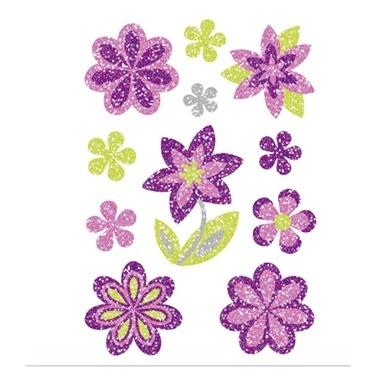 Herma Çocuk Etiketleri Renkli Çiçekler Renkli